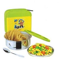 Stenso Kid's Lunchbox With Steel Container Spoon And Carry Case