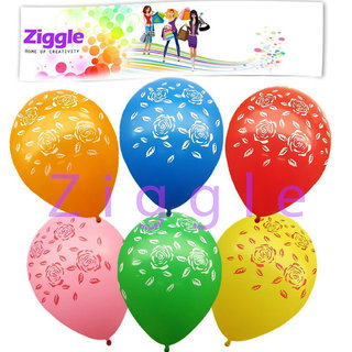 30pcs Printed balloons Rose balloons party balloons mixed color balloon