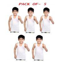 Swati Kids Sleveless Vest  Pack Of 5
