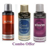 Combo of Park Avenue Good Morning Deo Spray - 150 ml (For Men) + Park Avenue Alpha Deo Spray - 150 ml(For Men) + Park Avenue Storm Deo Spray - 150 ml(For Men)