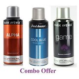 Combo Of Park Avenue Alpha Deo Spray - 150 Ml (For Men) + Park Avenue Cool Blue Deo Spray - 150 Ml(For Men) + Park Avenue Game Deo Spray - 150 Ml(For Men)