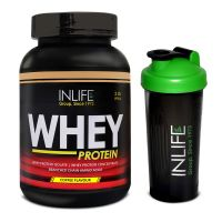 INLIFE Whey Protein Powder 2 Lbs (Coffee Flavour)  With Free Shaker