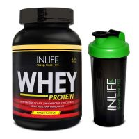 INLIFE Whey Protein Powder 2 Lbs (Mango Flavour)  With Free Shaker
