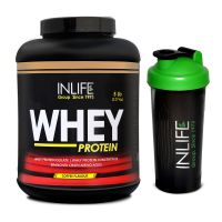 INLIFE Whey Protein Powder 5 Lbs (Coffee Flavor) With Free Shaker