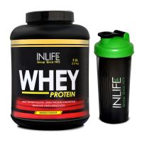 INLIFE Whey Protein Powder 5 Lbs (Mango Flavor) With Free Shaker