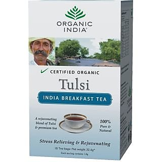 Organic India India Breakfast 18 Tea Bags