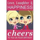 GreetZAP Voice Card: Birthday Wishes - Friends [Large Card]