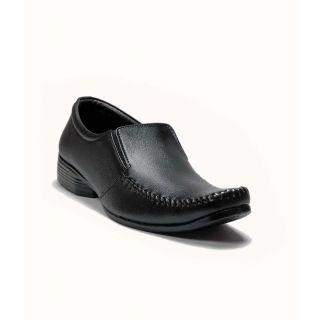 AT Classic Black Leather Formal Shoes