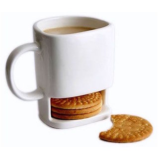Cookie Mug with Biscuit Holder by Flintstop