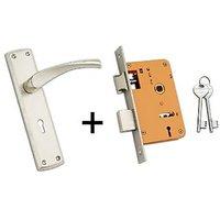 Parker Zinc Door Handle 1050 With Lock
