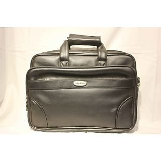 Office File Executive Synthetic Leather Bag Black