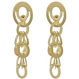 Gold Plated Sterling Silver Interlocked Rings Cascading Danglers By Yaasna Fusion Jewelry