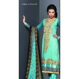 Embroidered Glitterngloss Designer Suits -fariha Fab