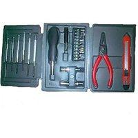Multipurpose 25 PCs Hobby Tool Kit For Garage Factory Foldable Case - H3TK0