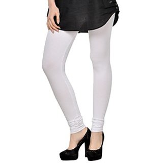 Kjaggs Cotton Lycra White Legging -KTL-3