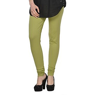 Kjaggs Cotton Lycra Mehandi Green Legging -KTL-16