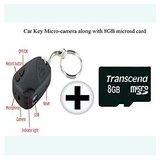 Keychain Micro-spy Camera Portable 720x480 Along With 8 Gb Microsd Card