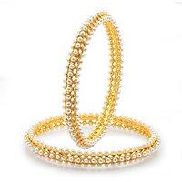 Sukkhi Gold Plated Golden  White Alloy Bangles For Women
