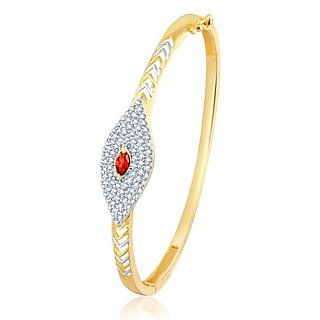 Sukkhi Glorious Gold and Rhodium Plated CZ Ruby Kada for Women