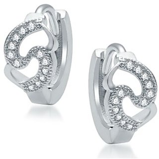 Sukkhi Glittery Rhodium Plated Micro Pave CZ Earrings