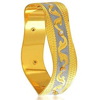 Sukkhi Bewitching Gold and Rhodium Plated Dancing Kada for Women