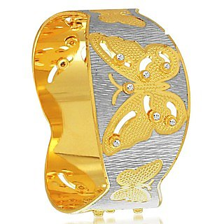 Sukkhi Briliant Gold and Rhodium Plated Dancing Kada for Women