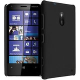 Ultra Thin Rubberized Matte Hard Case Back Cover For  Nokia Lumia 620 (Black)