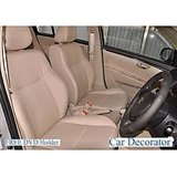 Car Seat Covers Leatherite Beige + Washable- Chevrolet Beat   + Free Dvd Holder+  Warranty