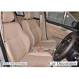 Car Seat Covers Leatherite Beige + Washable-   Mahindra Scorpio + Free Dvd Holder+  Warranty