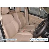 Car Seat Covers Leatherite Beige + Washable- Etios + Free Dvd Holder+  Warranty