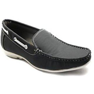 ANR Black Loafer Shoes(R-2155)