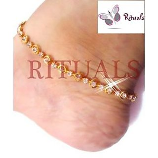 RITUALS Gold Plated  CZ Diamonds Anklets  - Guarantee Of Polish