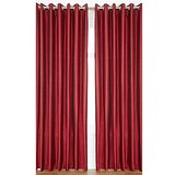 Royal Silky Maroon Door (7X4 Ft) Curtain