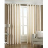 Royal Silky Cream Door (7X4 Ft) Curtain With Metal Eyelets