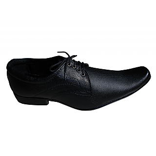 A R Men's Black Formal Shoes