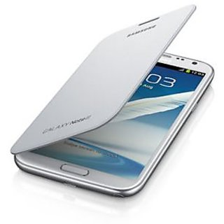 Galaxy Note 2 Flip Cover (White) available at ShopClues for Rs.149