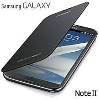 flip cover samsung galaxy note 2 Black  available at ShopClues for Rs.9745