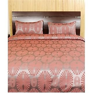 Looms Of India Geometrical Print Bed Sheet Set (Design 1)