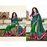 DESIGNER BRASSO SAREE IN DOUBLE SHADES                  D&D-1015