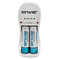 Envie N.a.n.o. Charger 2 X AA 1000 mAh Ni-cd Ni-cd Rechargeable Batteries