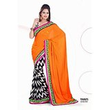 CHIFFON SAREE IN DOUBLE SHADES          SAN-551