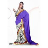 CHIFFON SAREE IN DOUBLE SHADES          SAN-554