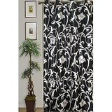 JBG Home Store Stylish Black Floral Eyelet Curtain