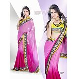 CHIFFON SAREE IN DOUBLE SHADES          SAN-1167