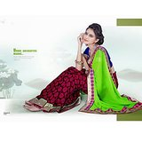 DESIGNER CHIFFON SAREE IN DOUBLE SHADES         SAN-1172