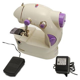 Mini Sewing Machine Portable 4 In 1 With Adapter Pedal