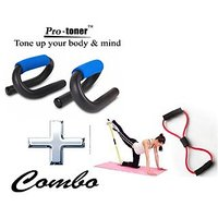 PROTONER COMBO SET OF PUSHUPBAR + STRETCH TUBE