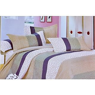 Valtellina Mossaic Print Double Bed Sheet (TITA_D-010)
