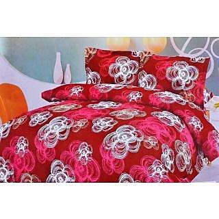 Valtellina Modern Design Print Double Bed Sheet (TITA_D-030)