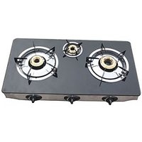 Branded Automatic Glass Top 3 Burner Gas Stove